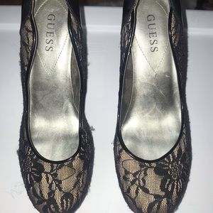 Lace detail high heels